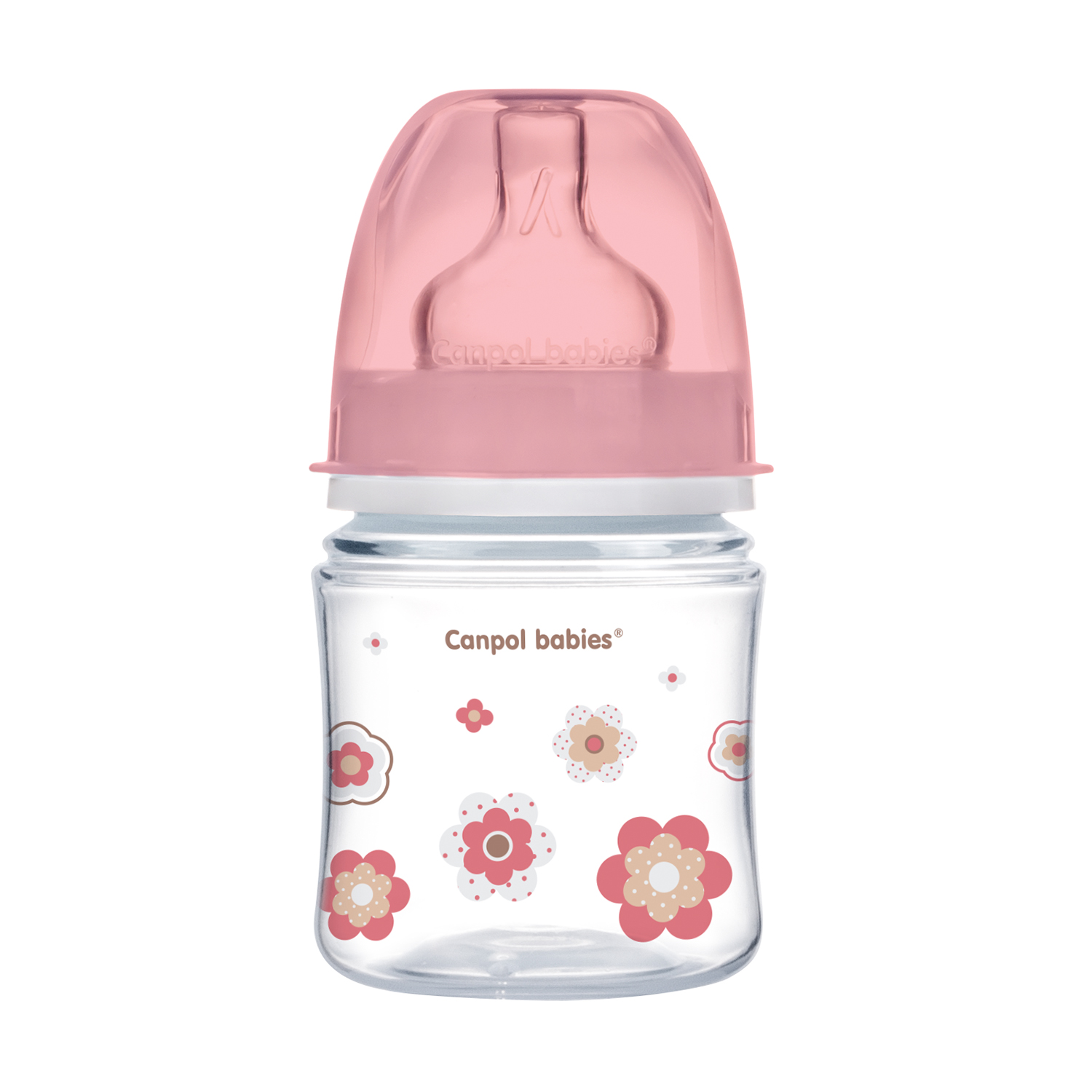 Canpol babies Easystart Anti-colic Wide Neck Bottle 120ml PP NEWBORN BABY pink