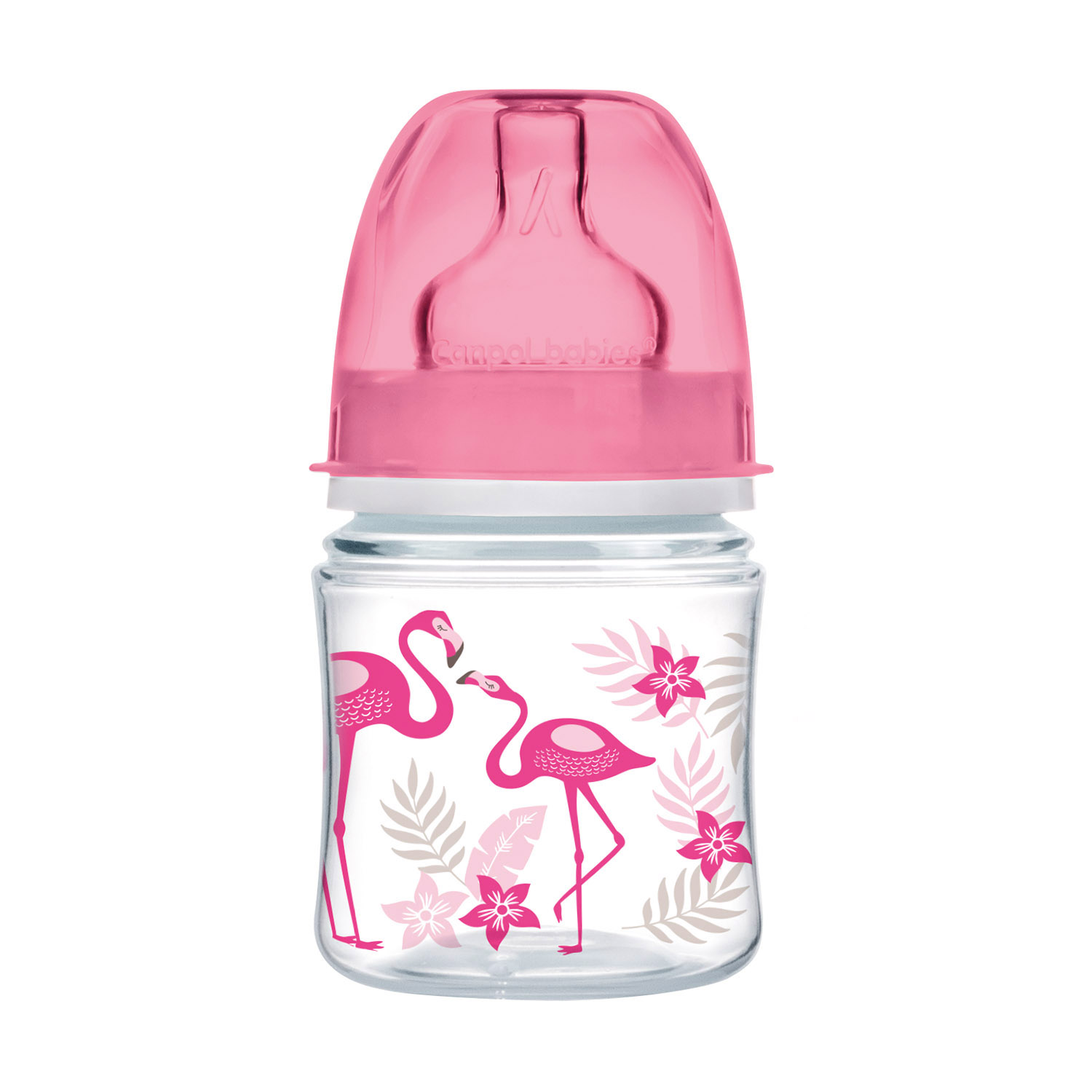 Canpol babies EasyStart Anti-colic Wide Neck Bottle 120ml PP JUNGLE coral