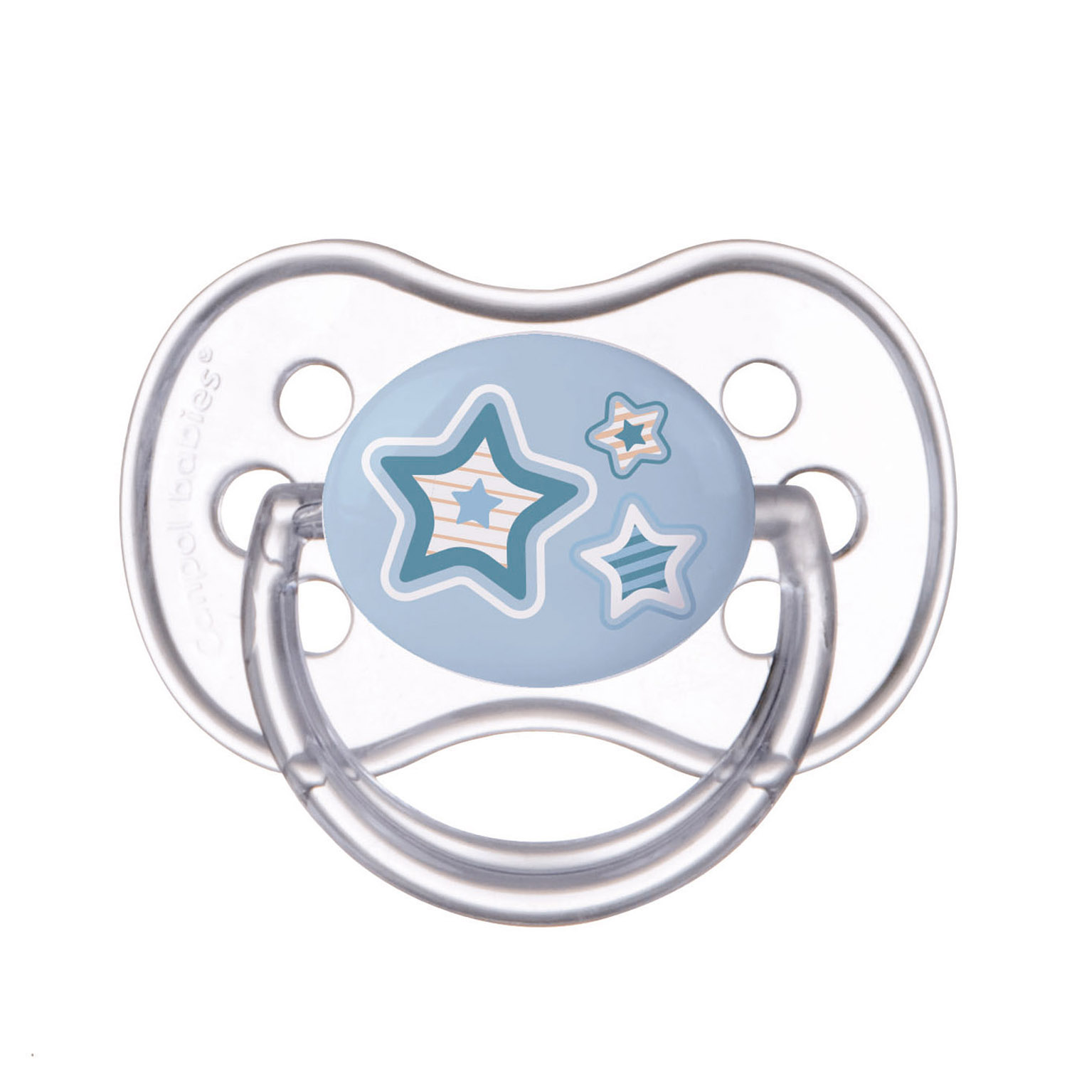Canpol babies Silicone Symmetric Soother 0-6m NEWBORN BABY blue