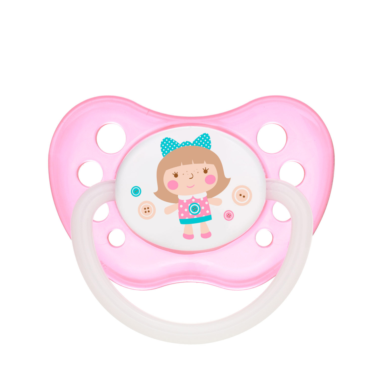 Canpol babies Silicone Orthodontic Soother 0-6m TOYS pink
