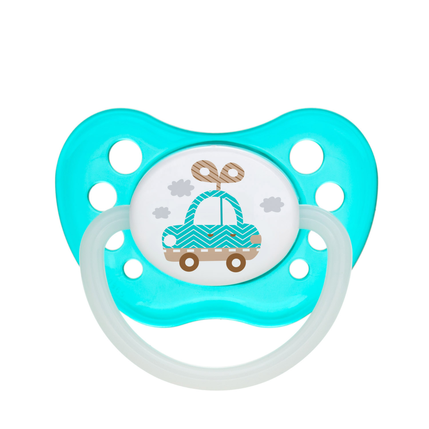 Canpol babies Silicone Orthodontic Soother 0-6m TOYS turquoise