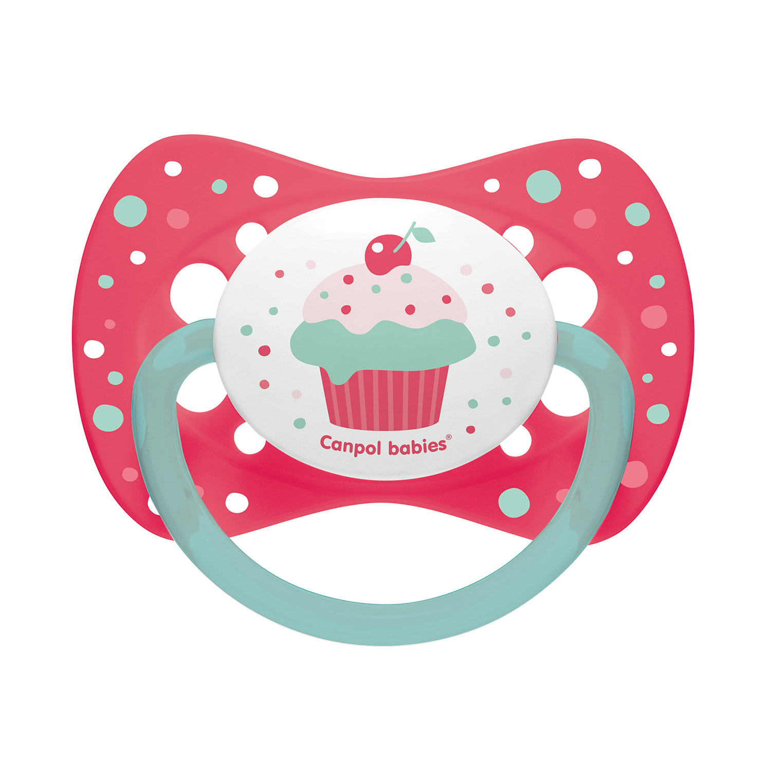 Canpol babies Silicone Symmetrical Soother 0-6m CUPCAKE pink